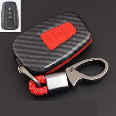 OEL DESIGN RED KEYRING 2 Toyota Cover Remote Key Holder Fob Case & KeyChain