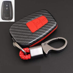 OEL DESIGN RED KEYRING Toyota Cover Remote Key Holder Fob Case & KeyChain