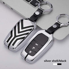 OEL DESIGN SILVER BLACK KEYRING ONLY Toyota Zinc alloy Car Remote Key Cover Case