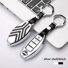OEL DESIGN SILVER BLACK Nissan Qashqai Zinc alloy Car Remote Key Cover Case