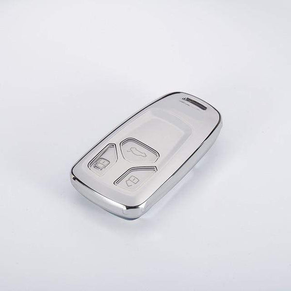 OEL DESIGN SILVER KEY COVER Audi Car Key Cover