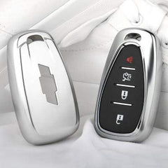 OEL DESIGN SILVER KEY COVER Chevrolet Key Cover