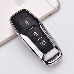 OEL DESIGN SILVER KEY COVER Ford Car Remote Key Cover