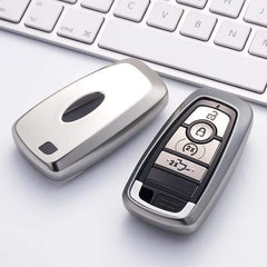 OEL DESIGN SILVER KEY COVER Ford Focus Key Case Chain