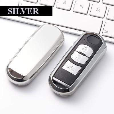 OEL DESIGN SILVER KEY COVER Mazda Car Key Cover