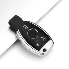 OEL DESIGN SILVER KEY COVER Mercedes New Hot Soft Car key Case