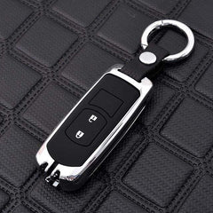 OEL DESIGN SILVER KEYRING 2 Mazda Zinc Alloy Silica Gel Car Remote Key Case Cover