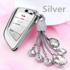OEL DESIGN SILVER KEYRING ONLY BMW Car Key Case Cover