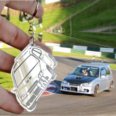 OEL DESIGN SILVER KEYRING Personalized Keychain for Your Car Model, based on your photo.