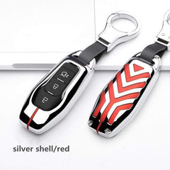 OEL DESIGN SILVER RED KEY COVER Ford Fiesta Zinc alloy Car Remote Key Cover Case
