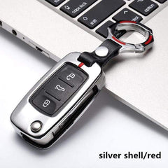 OEL DESIGN SILVER RED  KEYRING VW Golf Car Remote Key Cover Case