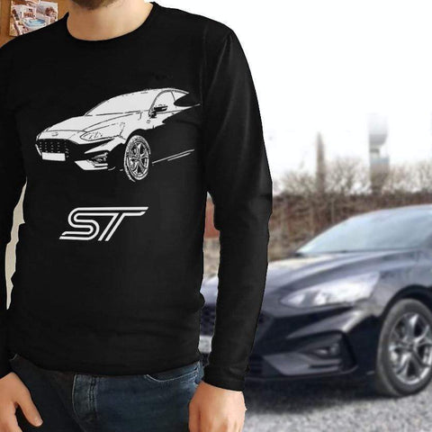 Oel Design T-shirt S / Black / Long Sleeve Custom Auto T-shirt Cotton