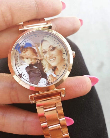 OEL DESIGN watches Customized photo watch - Rosegold