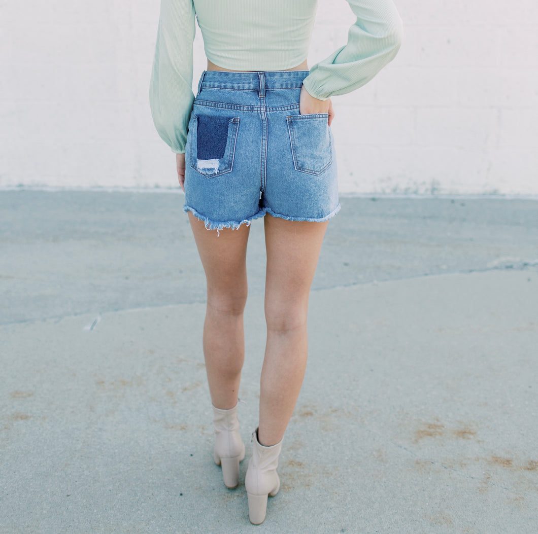 Bella High Waisted Denim Shorts