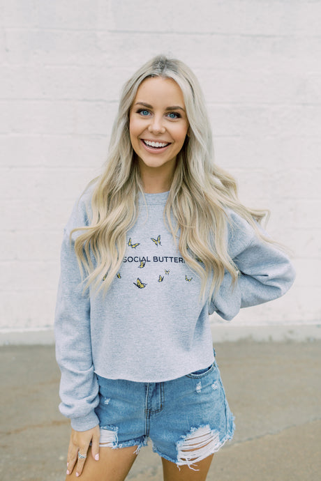 Antisocial Crop Sweatshirt