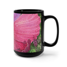 Load image into Gallery viewer, Pink Hibiscus Dream, By Robert Thomas, Black Mug 15oz
