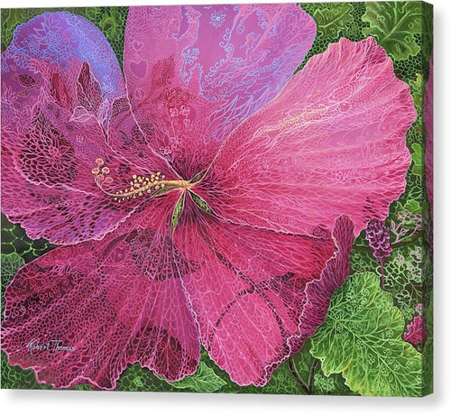 Pink Hibiscus Dream - Canvas Print