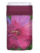 Load image into Gallery viewer, Pink Hibiscus Dream - Duvet Cover