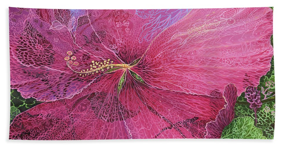 Pink Hibiscus Dream - Bath Towel