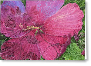 Pink Hibiscus Dream - Greeting Card
