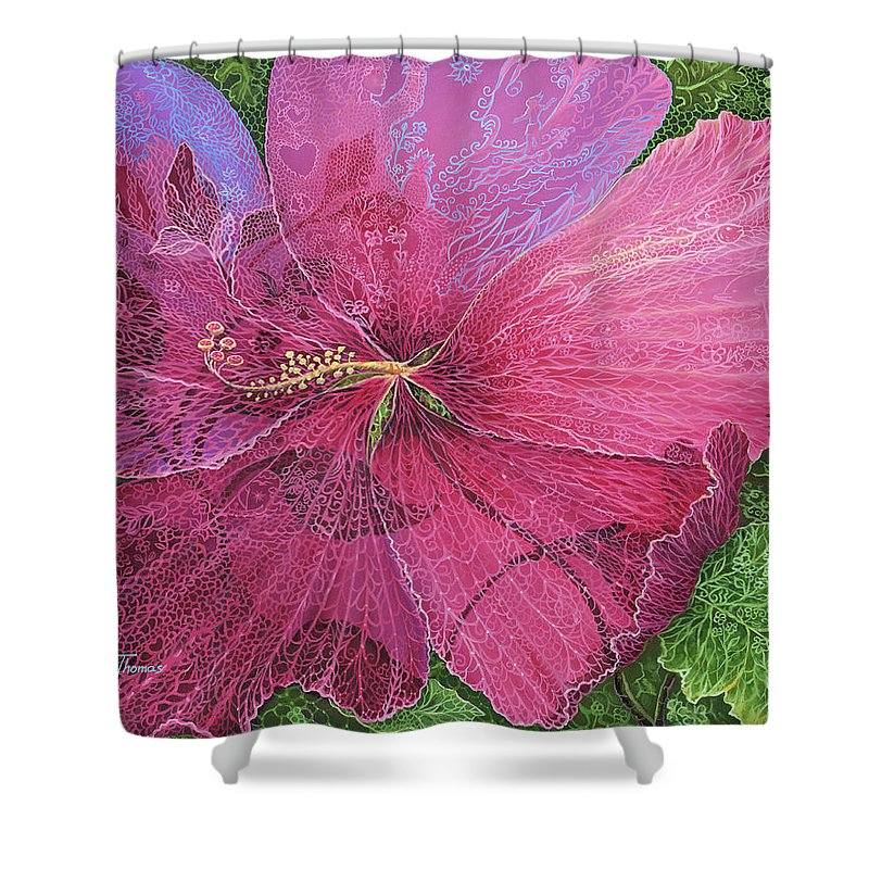 Pink Hibiscus Dream - Shower Curtain