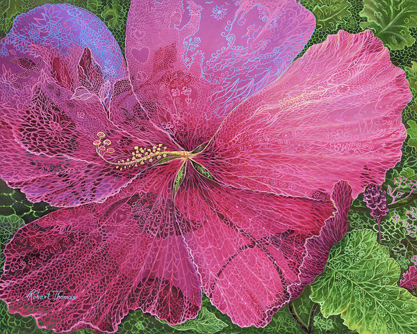Pink Hibiscus Dream - Art Print