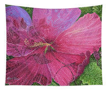 Load image into Gallery viewer, Pink Hibiscus Dream - Tapestry