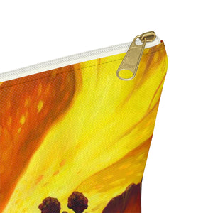 Yellow Hibiscus By Robert Thomas Accessory Pouch w T-bottom