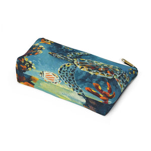 Palette Turtle By Robert Thomas Accessory Pouch w T-bottom
