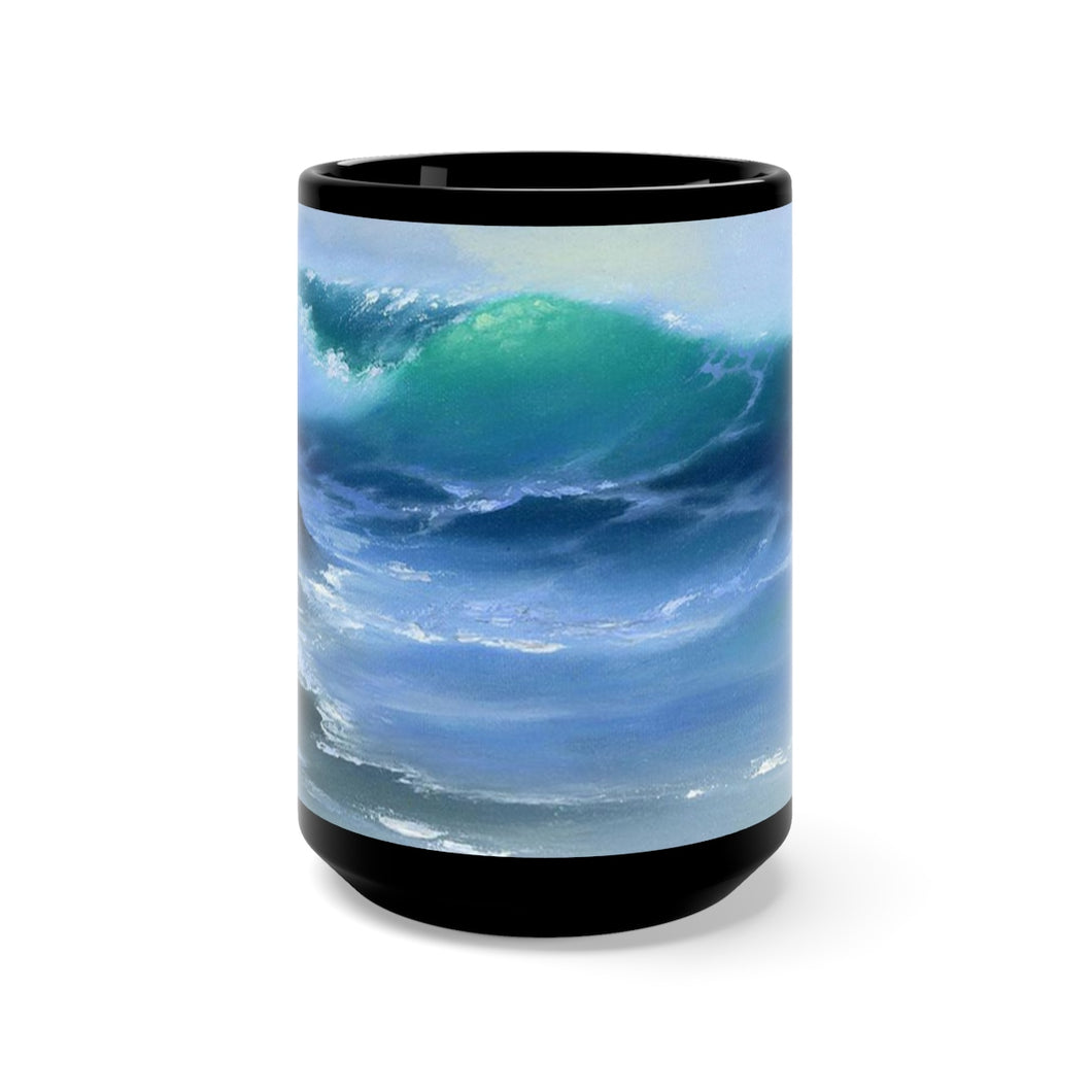 Light Wave, By Robert Thomas, Black Mug 15oz