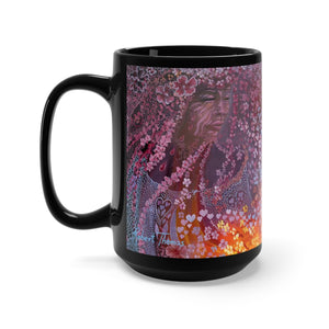 Sisterly Love with Pele, By Robert Thomas, Black Mug 15oz