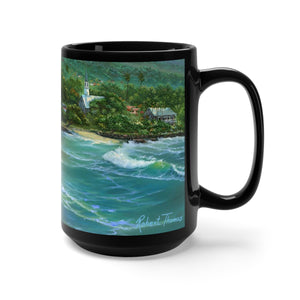 Kona by the Sea, By Robert Thomas, Black Mug 15oz