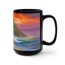 Load image into Gallery viewer, Living in Paradise, By Robert Thomas, Black Mug 15oz