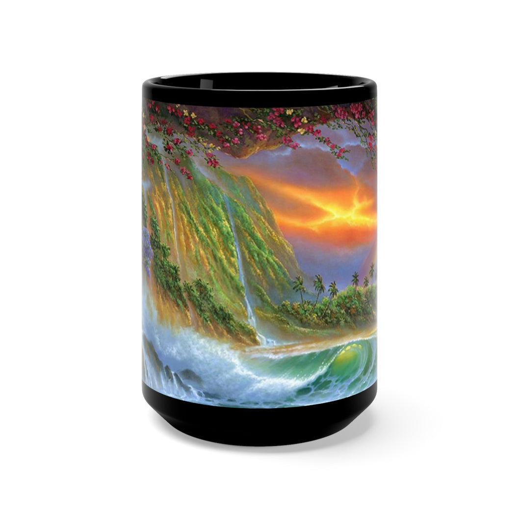 Heart of Hawaii, By Robert Thomas, Black Mug 15oz