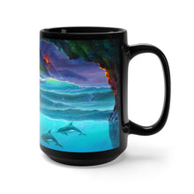Load image into Gallery viewer, Over and Under Lava, By Robert Thomas, Black Mug 15oz
