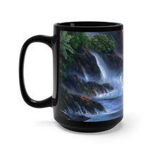 Load image into Gallery viewer, Volcano Passion, Kilauea Flow, By Robert Thomas, Black Mug 15oz