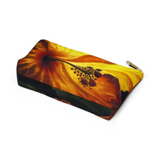 Load image into Gallery viewer, Yellow Hibiscus By Robert Thomas Accessory Pouch w T-bottom
