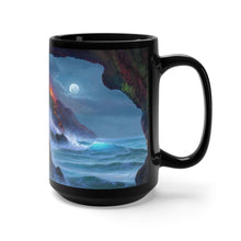 Load image into Gallery viewer, Volcano Sea cave, Robert Thomas Hawaiian Art, Black Mug 15oz