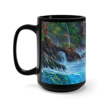 Load image into Gallery viewer, Honu Adventure with Dolphins, By Robert Thomas, Black Mug 15oz