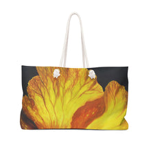 Load image into Gallery viewer, Yellow and Red Hibiscus Weekender Bag By Robert Thomas