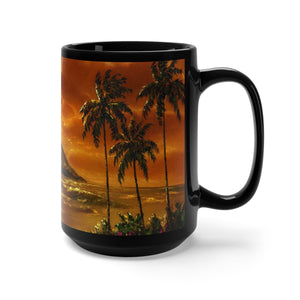 Sepia Diamond Dreams, By Robert Thomas, Black Mug 15oz