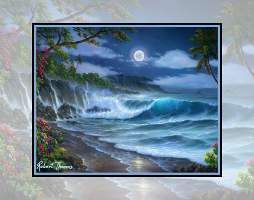 China Mans Hat, Oahu, Hawaii Art By Robert Thomas 8x10 and 11x14 Giclee Print on canvas