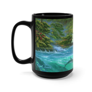 Captain Cook Monument, By Robert Thomas, Black Mug 15oz