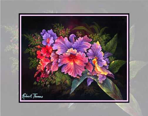 Cattleya Orchid, Flowers, Hawaii Art By Robert Thomas 8x10 and 11x14 Giclee Print on canvas