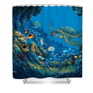 Turtle Cove - Shower Curtain