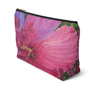 Pink Hibiscus Dream Accessory Pouch