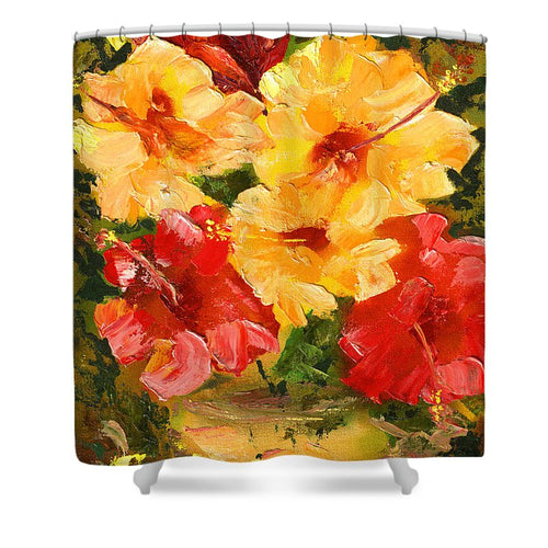 Flower Impressions - Shower Curtain