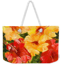 Load image into Gallery viewer, Flower Impressions - Weekender Tote Bag