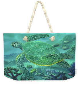 Glass Turtle - Weekender Tote Bag