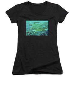 Glass Turtle - Women's V-Neck
